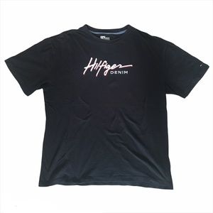 Vintage Tommy Hilfiger Denim Black T-Shirt (M)